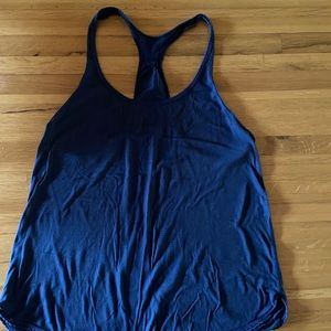 Lululemon navy gold stripe tank top